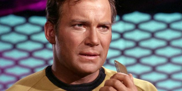 LOS ANGELES - SEPTEMBER 20: William Shatner as Captain James T. Kirk in the STAR TREK episode, 'Spock's Brain.' Original airdate, September 20, 1968.  Season 3, episode 1.  Image is a screen grab.  (Photo by CBS via Getty Images)