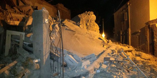 A church and several other historic buildings collapsed in the historic island town of Ischia, off the...