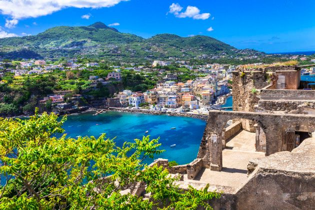 A popular tourist destination, Ischia is home to many historic buildings, including Aragonese