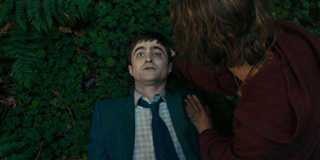 Daniel Radcliffe in his finest role yet. A corpse.