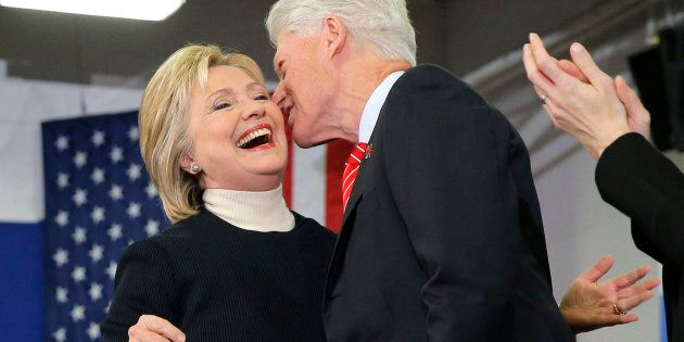 Hilary and Bill Clinton's marriage survived his infamous affair with Monica Lewinksy.  REUTERS/Brian Snyder