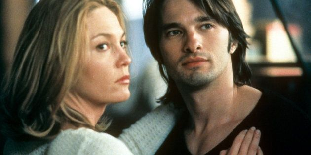 Diane Lane and Olivier Martinez in the 2002 movie 'Unfaithful'. (Photo by 20th Century-Fox/Getty Images)
