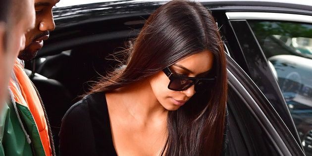 Kim Kardashian West and husband Kanye West arrive in New York from Paris.