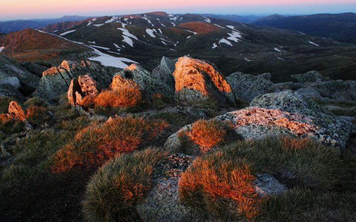 Mount Kosciuszko is part of the rare, beautiful region of the national park.
