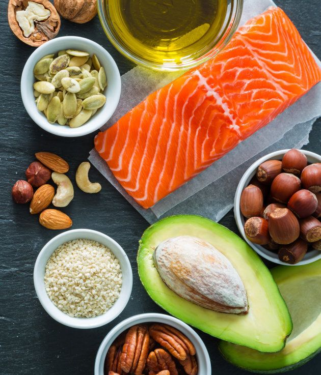 Healthy fats from nuts, seeds, avocado, hemp seeds and oily fish can also help with