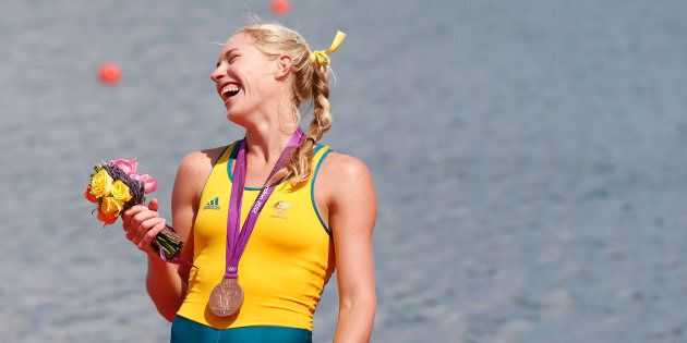 If bronze made her this happy, imagine what gold will do.