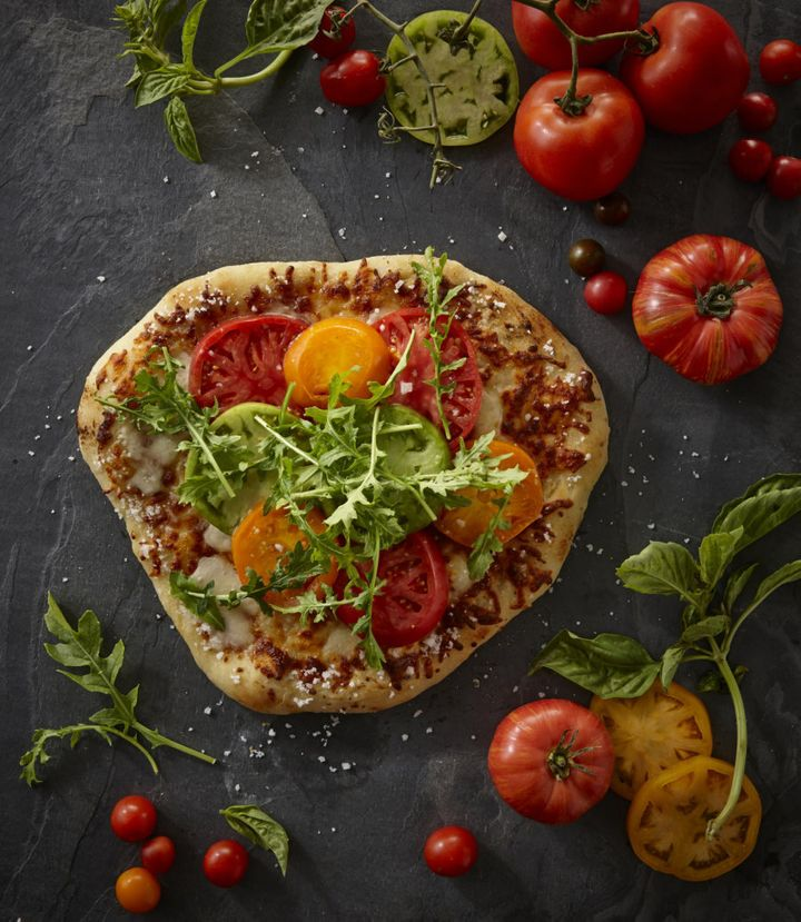 Ask for extra veggies and top with rocket for a punch of flavour. Better yet, make your own pizza at home.