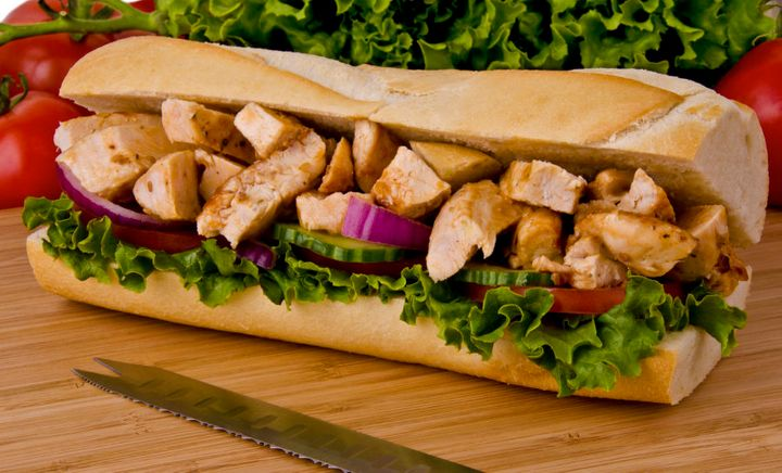 Downsize to a six-inch sub instead of going for a foot long.