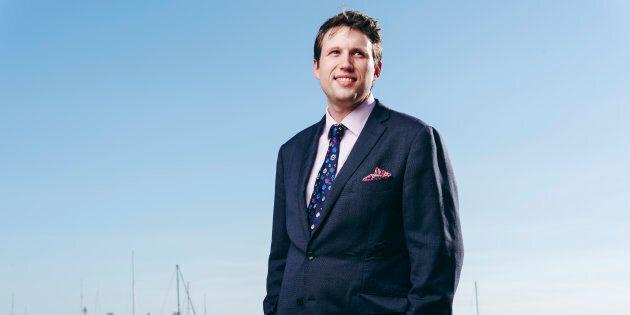 Evan Hughes, running against Malcolm Turnbull in