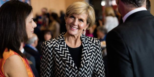 Foreign Minister Julie Bishop says the Australians are in a Malaysian jail for 'something that is inherently...