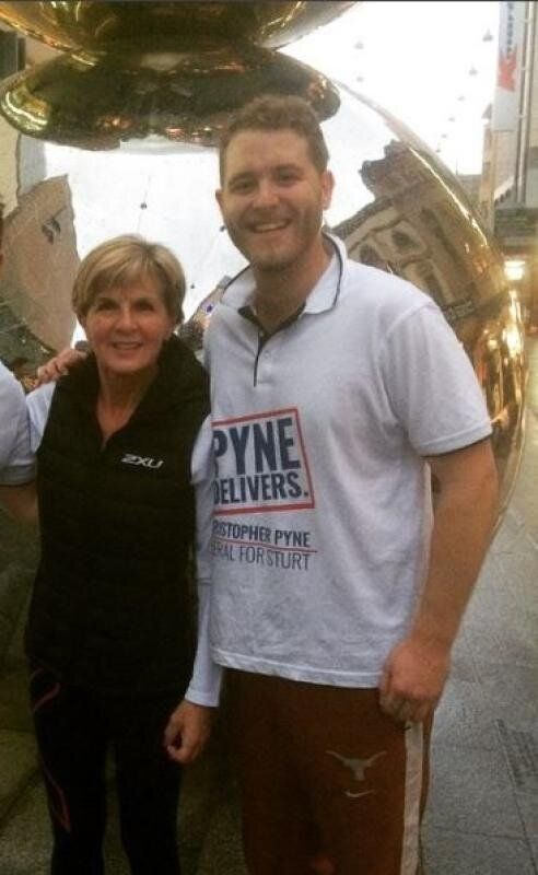 Julie Bishop and Jack Walker - as found on Mr Walker's Instagram