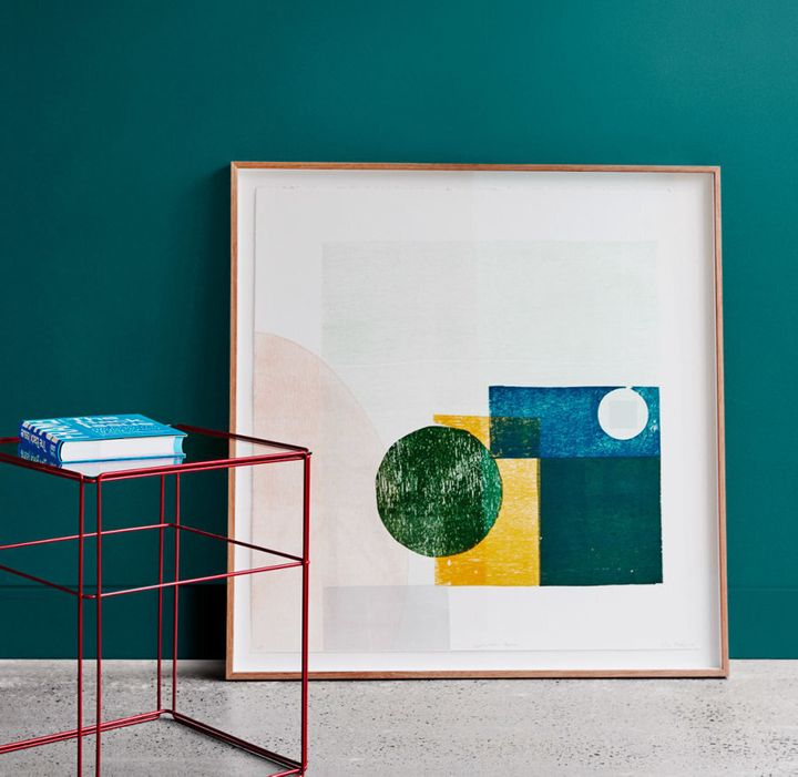 Styled by Bree Leech and Heather Nette King for Dulux Colour Trends 2017, the wall colour is Dulux Deep Arctic.