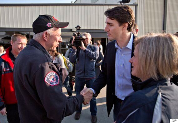 Trudeau Takes First-Hand Look At Canada Wildfire