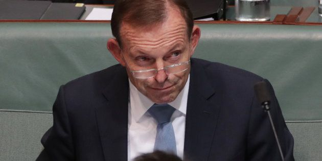 Tony Abbott during question time at Parliament
