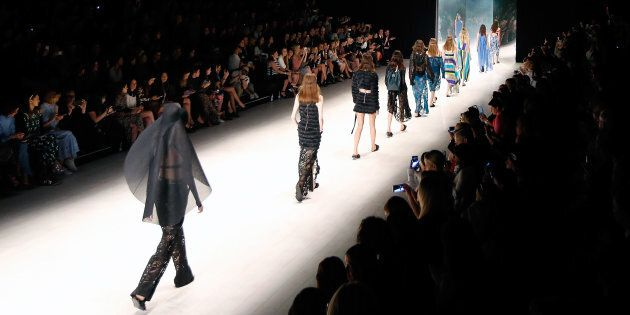 SYDNEY, AUSTRALIA - MAY 16:  Models walk the runway during the Ginger & Smart show at Mercedes-Benz Fashion Week Resort 17 Collections at Carriageworks on May 16, 2016 in Sydney, Australia.  (Photo by Zak Kaczmarek/Getty Images)