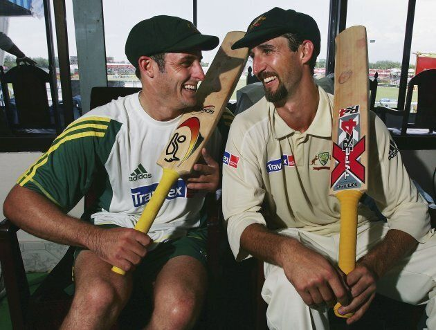 Dizzy gave Mike Hussey some much-needed batting advice after their 320 run partnership ended early when Huss was out for 182.