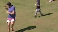 Heads! Boy Hit In The Face With A Cricket Ball After Dad Chickens Out Of The