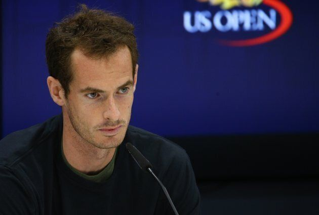 Andy Murray appears at a press conference to announce his withdrawal from the 2017 U.S.
