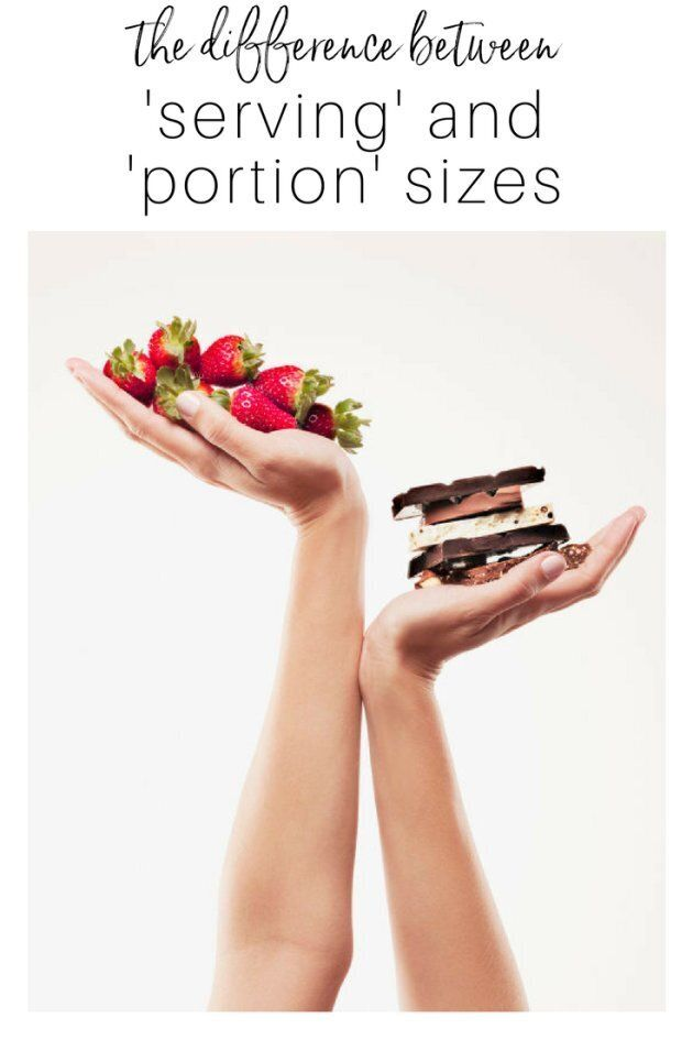 The Difference Between 'Serving Size' and 'Portion