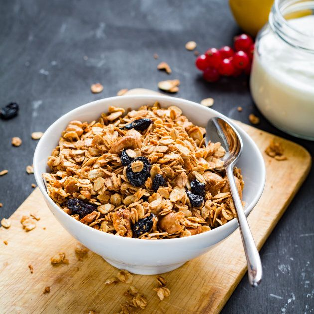 While a serve of muesli is 30 grams, you may need two serves to make up your breakfast portion.