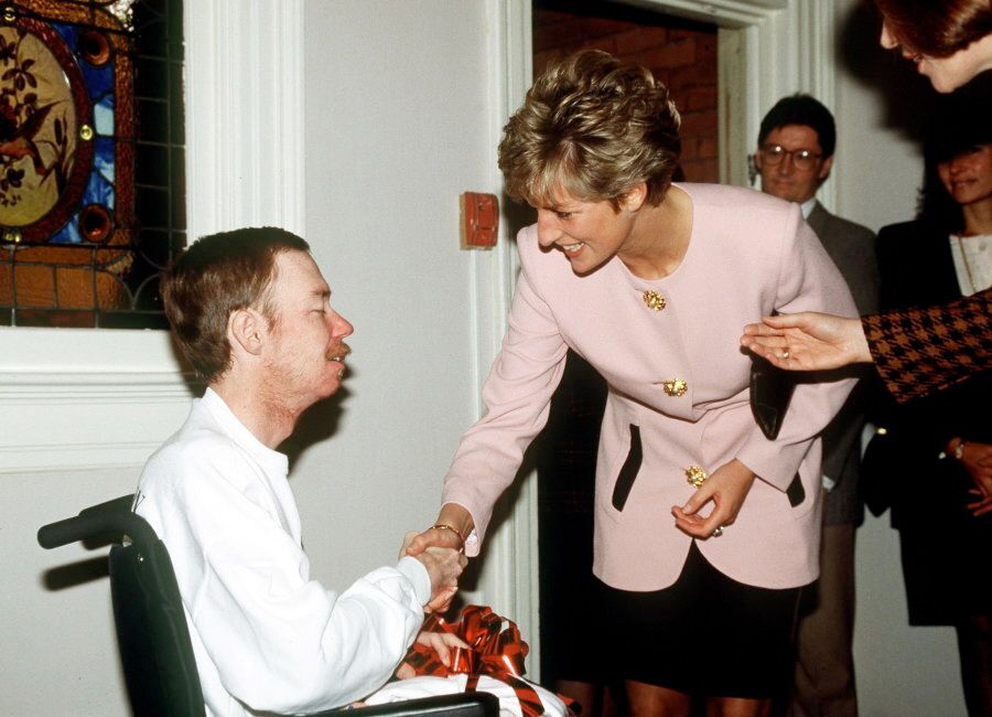 Princess Diana Shaking Hands With One Of The Residents Of Casey House, An Aids Hospice, In Toronto,