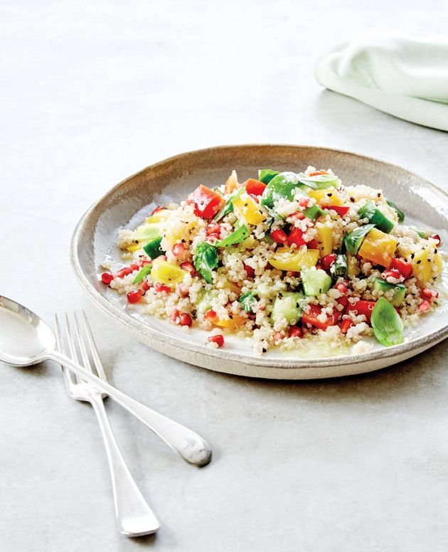 Add even more bulk to this salad by topping with seafood or