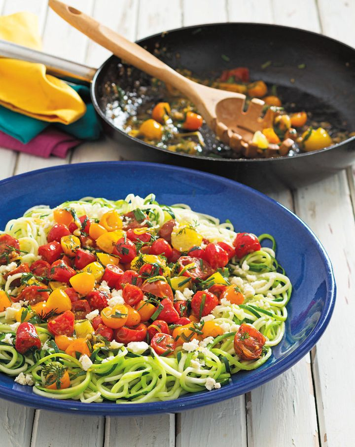If pasta makes you feel bloated, zucchini noodles are a great alternative.