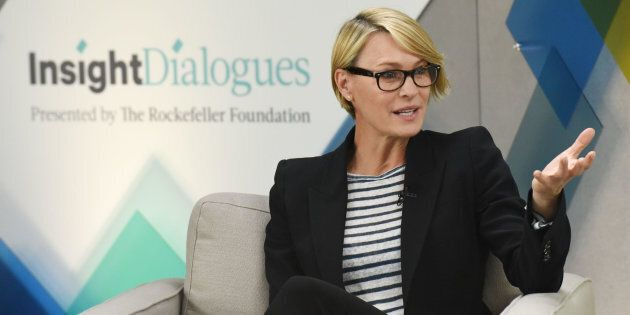 Actress Robin Wright and Judith Rodin, Rockefeller Foundation CEO during the Rockefeller Foundation Insight Dialogue Session hosted by the Huffington Post, held in New York City, Tuesday, May 17, 2016.Photo by Jennifer Graylock-Graylock.com917-519-7666