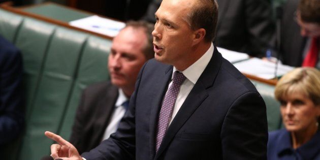 Peter Dutton says refugees would take Australian jobs.