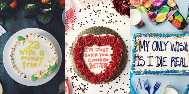 Drake lyrics piped onto cakes, then Instagrammed. What a time to be