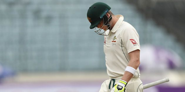 Australia All Out For 217 In The First Test Against