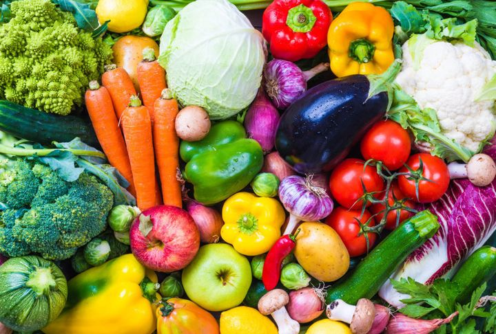 Fill your fridge with rainbow whole foods.