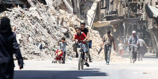 A spokesman from the Red Cross said the organization successfully delivered humanitarian aid supplies to the besieged Damascus suburb of Harasta after four years.