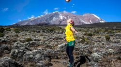 The Woman Who Was Ankle-Deep In Volcanic Ash For The World's Highest Soccer