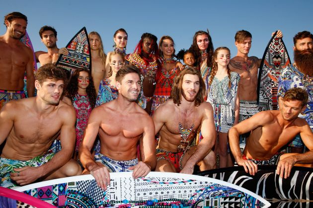 SYDNEY, AUSTRALIA - MAY 19: Designer Camilla Franks poses with models during the runway during the Camilla...