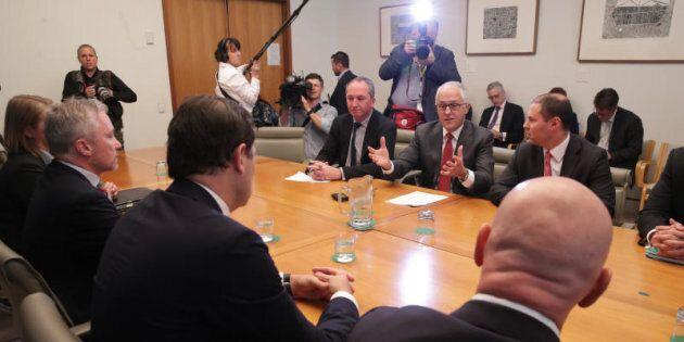 Round one: Prime Minister Malcolm Turnbull first met energy retail chiefs at Parliament House three weeks