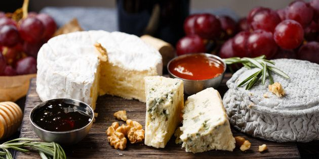 What's better than cheese? A whole platter of them, enjoyed with wine.