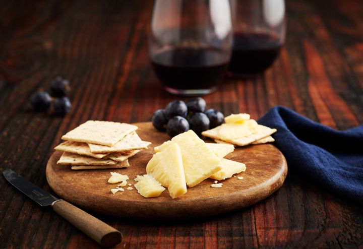 Cabernet Sauvignon goes perfectly with cheddar.