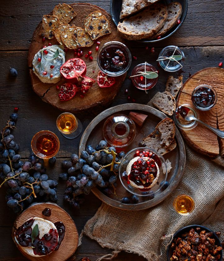 Experiment with a wide variety of cheeses, jams, fruit and wine.