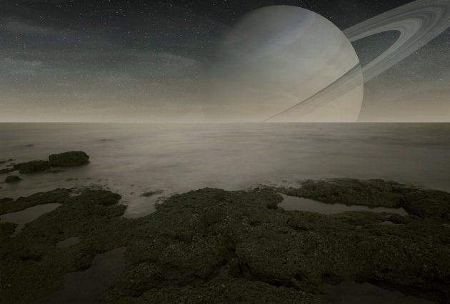 Saturn's biggest moon Titan resembles the prehistoric Earth.