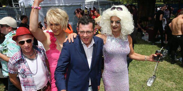 Daniel Andrews at Midsumma Festival, a celebration of the LGBTI community, in Victoria in