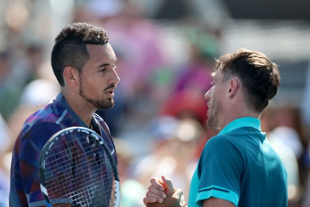 Kyrgios congratulates fellow Australian John Millman on his