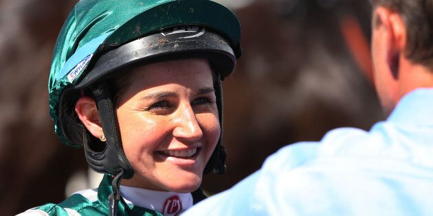 If they gave out Melbourne Cup trophies for warm smiles, she'd have about three million in the cupboard.