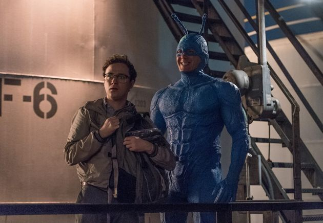 Griffin Newman and Peter Serafinowicz as Arthur and The Tick, the unlikely