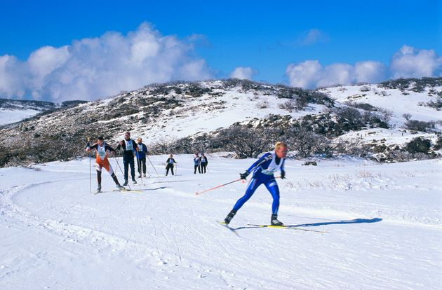 Contestants in Kangaroo Hoppet cross-country ski