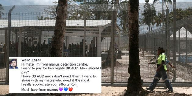 The Manus Island centre, where Walid