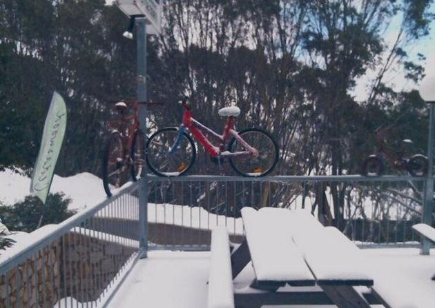 The standard bike pic at Falls Creek in Victoria (which you might have seen before if you read this site...