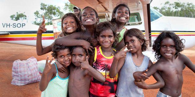 Indigenous kids at Nhulunbuy, Northern Territory.