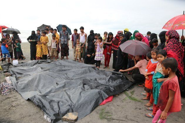 Reports indicated many Rohingya muslims have died as they attempt to flee the conflict. Rescuers were...