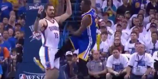 Draymond Green Nut Kick On Steven Adams Earns $25k Fine, No